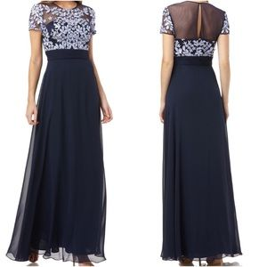 JS Collections Embroidered Illusion Bodice Gown 16